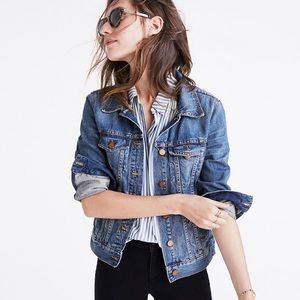 MADEWELL 'THE JEAN JACKET' IN PINTER WASH, XL